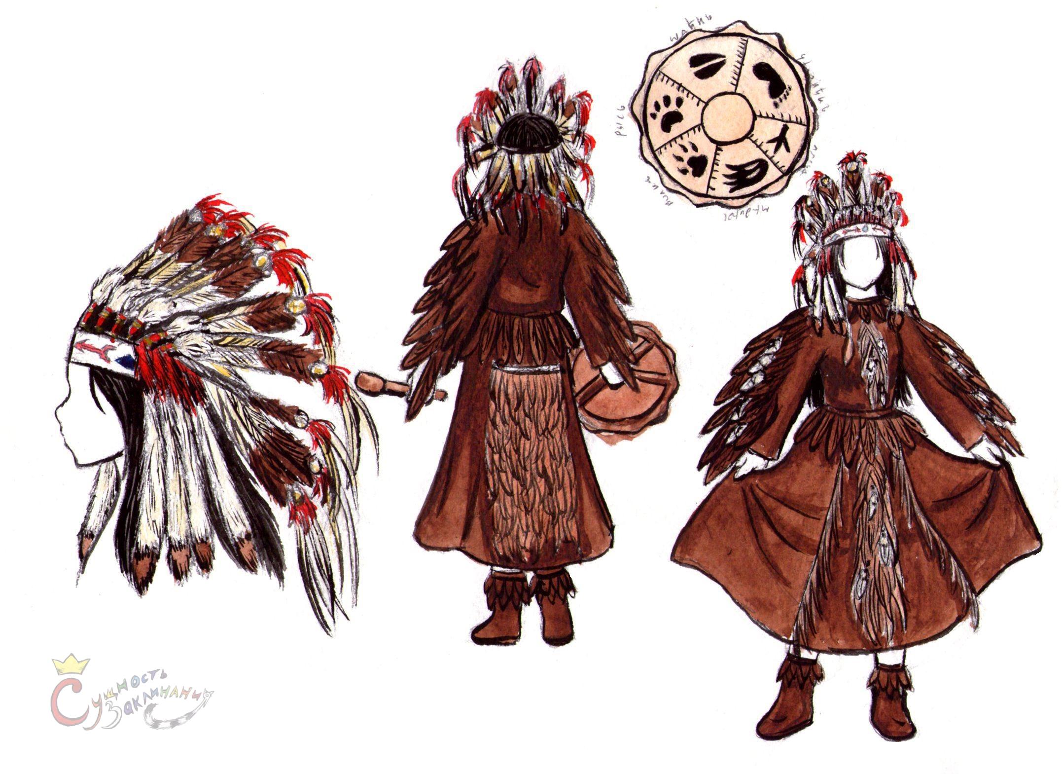 Своими руками костюм-шаман 62